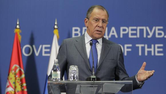 """El ministro ruso de Asuntos Exteriores, Serguéi Lavrov, señaló que cuando """"desde fuera anuncian que Venezuela tiene ahora un nuevo presidente interino eso ya no tiene nombre"""". (Foto: EFE)"""