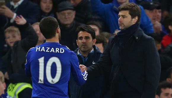 El entrenador del Tottenham no escatimó en elogios para Eden Hazard, al que ha situado al mismo nivel de Lionel Messi y Cristiano Ronaldo. (Foto: AP)
