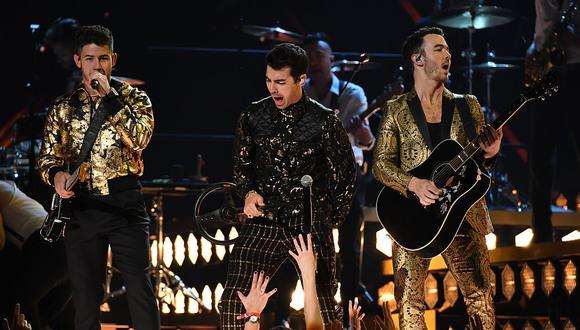 Los Jonas Brothers regresaron el año pasado como banda tras estar separados desde el 2013 (Foto: AFP)