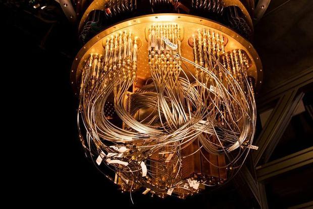 Una vista de Symacore, la computadora cuántica de Google.