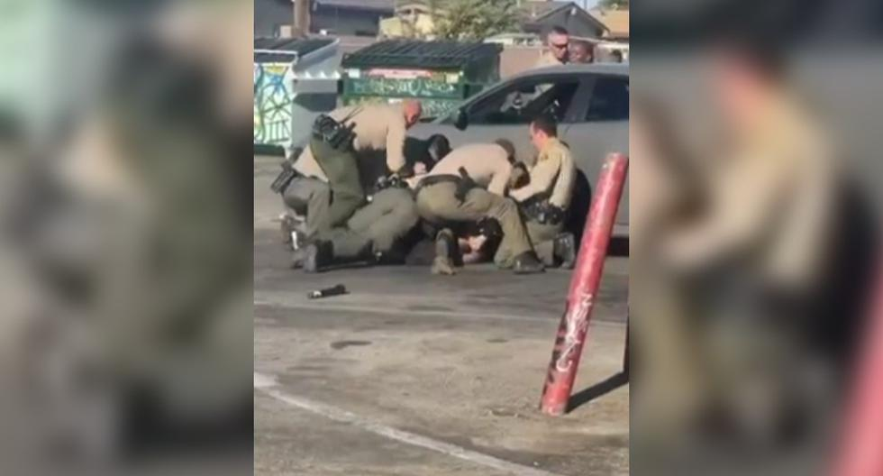 The brutal attack by Los Angeles police on a Latino who was pulled from the car
