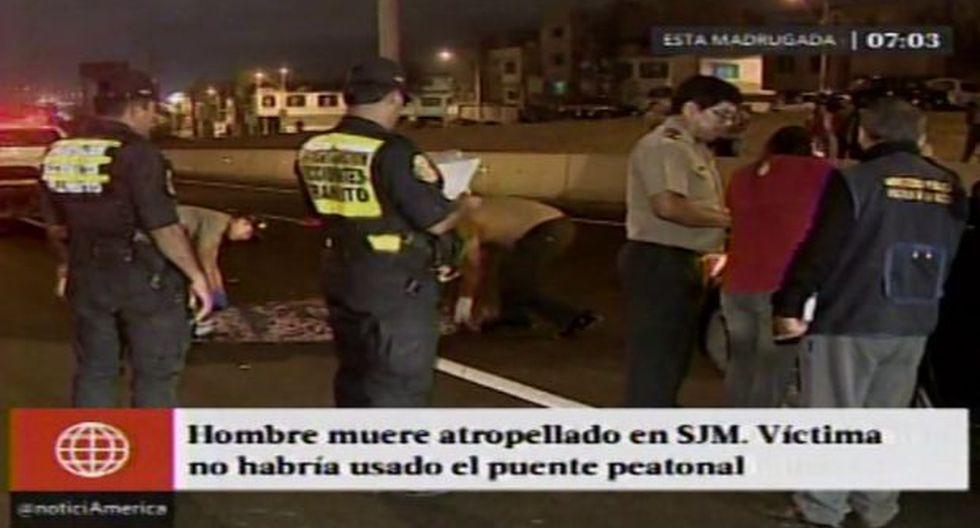 SJM: hombre murió atropellado en la Panamericana Sur