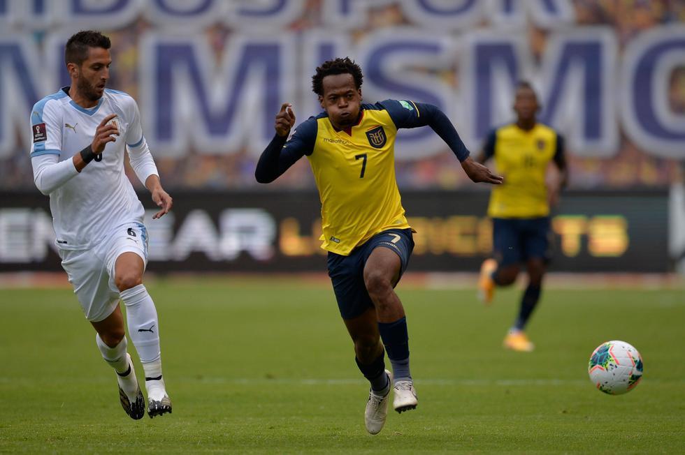 Ecuador - Uruguay: Eliminatorias 2022. (Foto: AFP)
