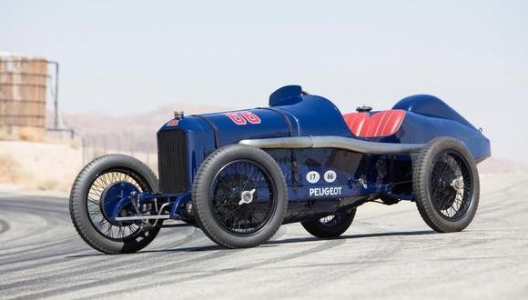 Este Peugeot L45 acabó tercero en las 500 Millas de Indianápolis de 1916. (Fotos: Difusión)