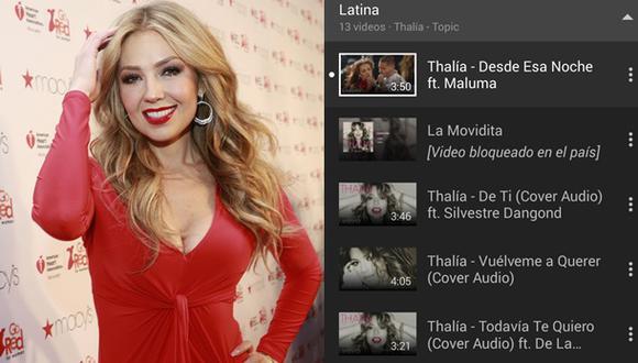¿Thalía es omnipresente en YouTube?