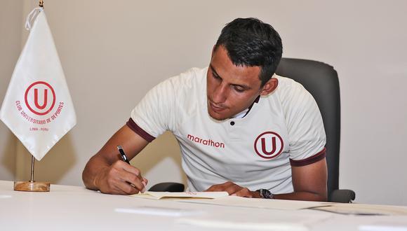 Alex Valera tiene contrato con la 'U' hasta 2023. (Foto: Universitario)