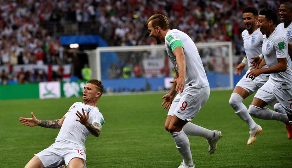 Inglaterra abrió el marcador en el amanecer del partido. (AFP)