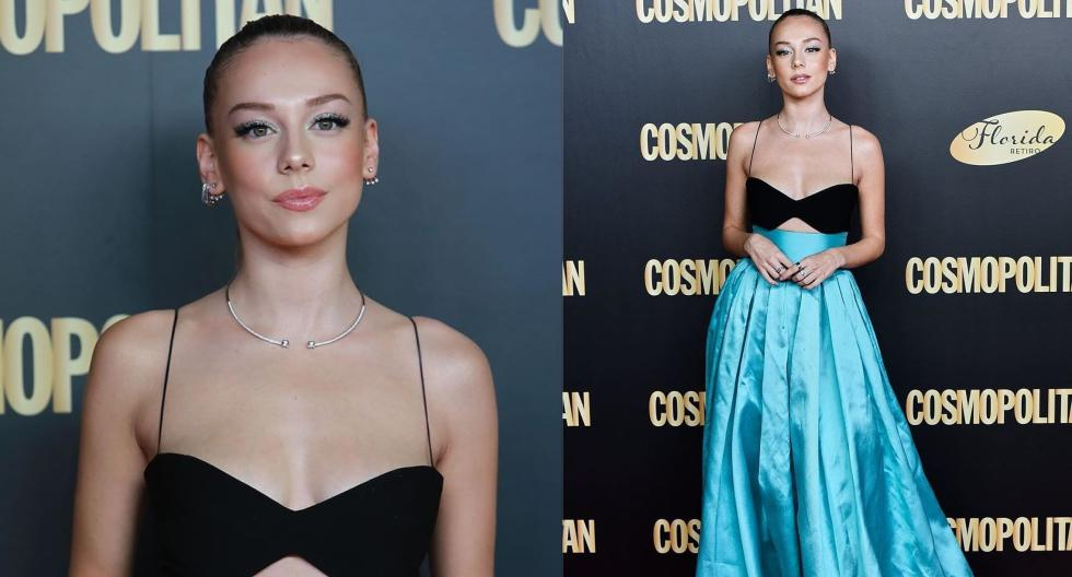 """La joven estrella de """"Élite"""" ganó el premio a Actriz Revelación de la gala Cosmopolitan. En esta galería, conoce más detalles de su glamoroso outfit. (Fotos: Instagram/ @ginomateus)"""