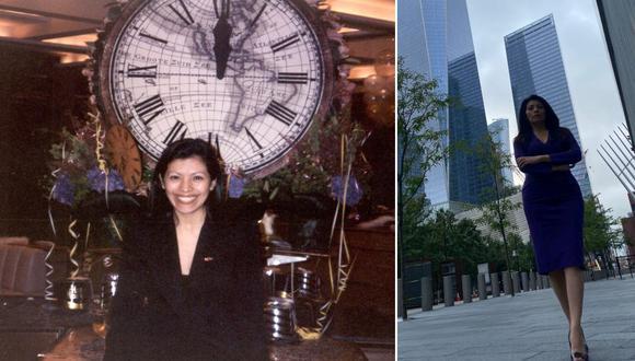 Nathalie Tolentino: la peruana que cerró por última vez la puerta del Windows on the World, el restaurante con la mejor vista aérea de Manhattan. La semana pasada volvió a Ground Zero, para recordar a sus amigos. FOTO: Archivo personal / Fabricio Elizondo.