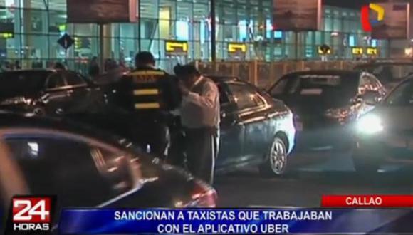 Callao: sancionan a taxistas de Uber en aeropuerto Jorge Chávez