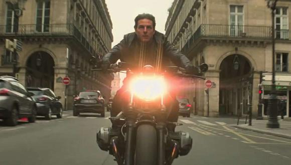 El tráiler de la película nos muestra a Tom Cruise manejándola a través de las calles de París en lo que suponemos será una de las persecuciones principales. (Foto: Difusión BMW)