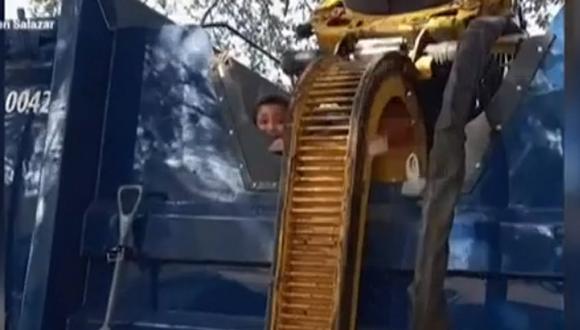El pequeño Elías Quezada estuvo a un instante de perder la vida aplastado sino fuera por la reacción del conductor Waldo Fidele. (Foto: captura YouTube).