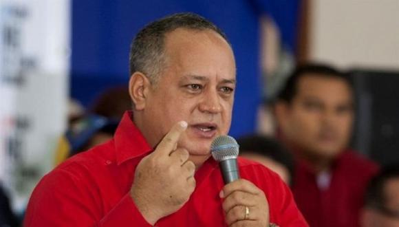 """""""Parece que cada día van a ser mayores los problemas en Europa como para que se estén preocupando de lo que ocurre aquí en Venezuela"""", señaló Diosdado Cabello. (Foto: EFE)"""