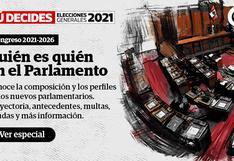 Elecciones 2021: ¿Quiénes son los nuevos congresistas para el periodo 2021-2026?