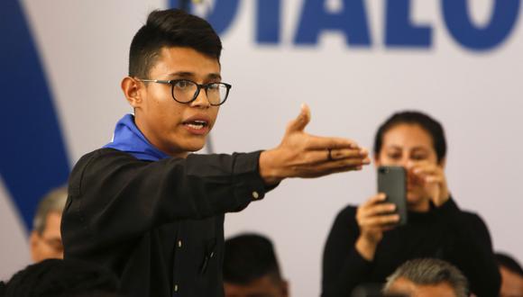 Lesther Alemán se convirtió en la voz de los estudiantes en la mesa de diálogo con el gobierno de Daniel Ortega. (AP).