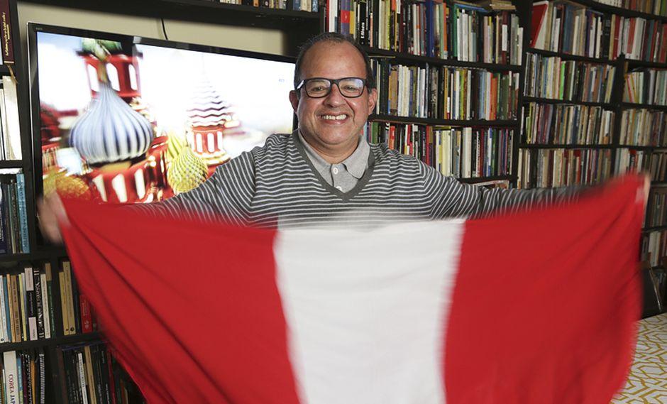 El periodista historiador, Jaime Pulgar Vidal, apuesta por Croacia en la final del Mundial. (Foto: Nancy Chappell)