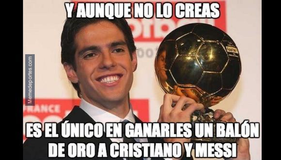 El Meme: Kaká, el único en ganarle a Cristiano y Messi