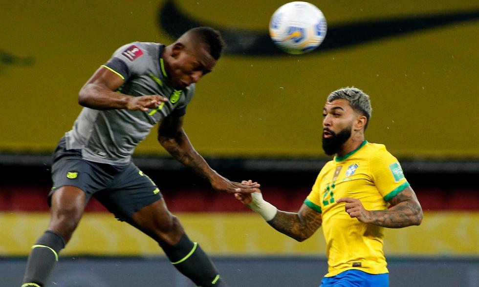 Ecuador y Brasil jugaron este viernes por la jornada 7 de Eliminatorias rumbo a Qatar 2022 Fuente: AFP