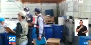 Coronavirus en Perú: Policía Nacional incauta 720 litros de alcohol adulterado en San Martín de Porres
