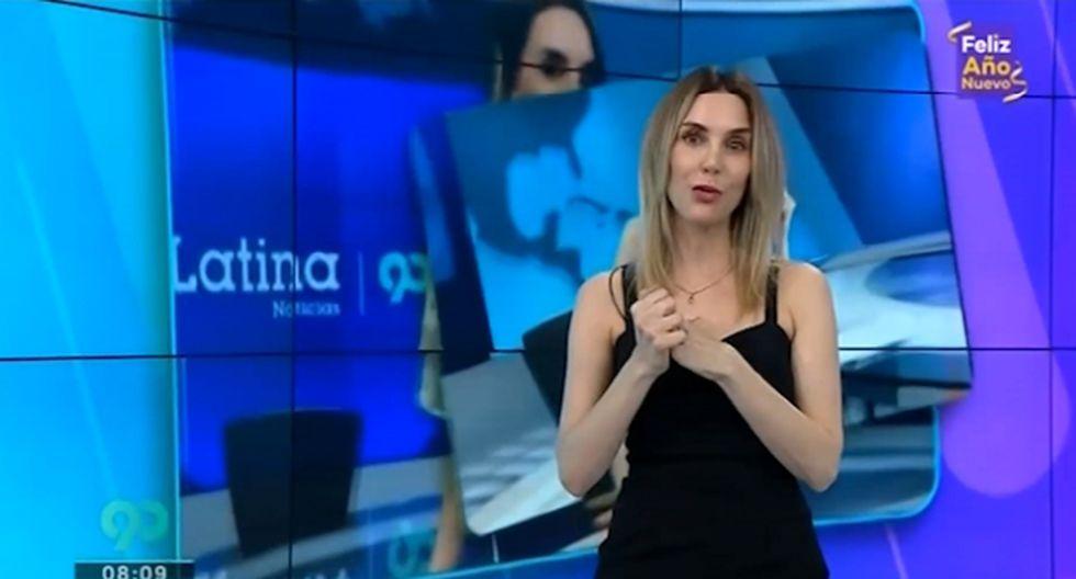 """Periodista aclaró que no la """"botaron"""" del canal y que estaba muy agradecida a todos por el apoyo. (Foto: Captura de pantalla)"""