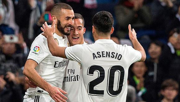 Karim Benzema marcó el gol de la victoria para el Real Madrid ante Rayo Vallecano en el Santiago Bernabéu. (Foto: EFE)