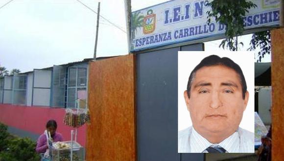 Pablo Martín Machado Huayanca tiene 54 años y fue director del colegio Esperanza Carrillo de Peschiera hasta este martes. (Foto: UGEL Chincha / Reniec)