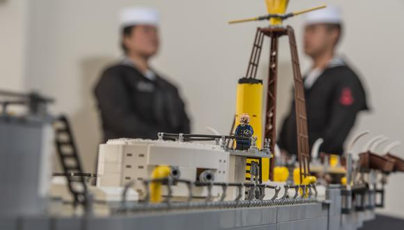 La figura de Miguel Grau está ubicada en la torre de comando. Desde ahí dirigía a la tripulación. (Foto: Fidel Carrillo)