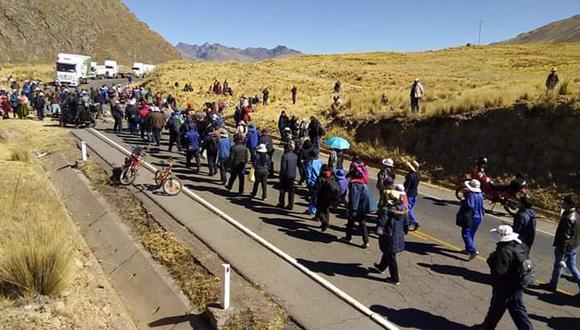 Paro en Puno: vía a Cusco sigue bloqueada por cuarto día consecutivo