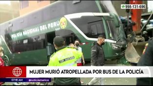 SJM: Mujer fallece tras ser atropellada por bus de la policía