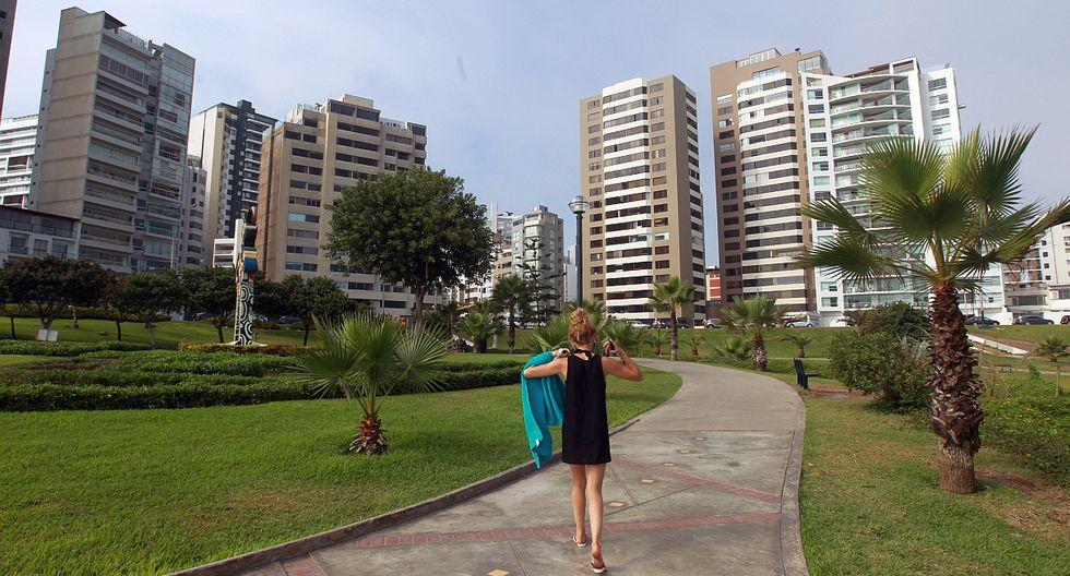 Miraflores. El valor del m² en distritos exclusivos como este oscila entre S/7.248 y S/7.378, según la Asociación de Empresas Inmobiliarias del Perú. (Foto: El Comercio)
