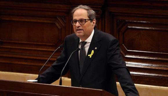 El presidente de Cataluña, Quim Torra. (Foto: EFE)