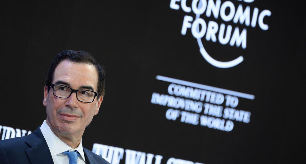 """Si """"algunos países imponen de forma arbitraria tasas digitales"""" a compañías estadounidenses, el país impondrá """"también de forma arbitraria"""" aranceles a productos europeos, aseveró Steven Mnuchin. (Foto: AFP)"""