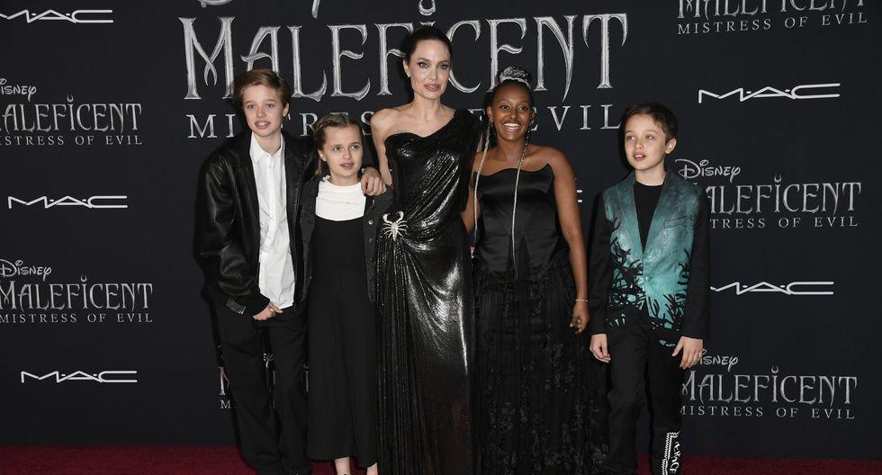 Malefica 2 Angelina Jolie Y Sus Hijos Se Lucen En La