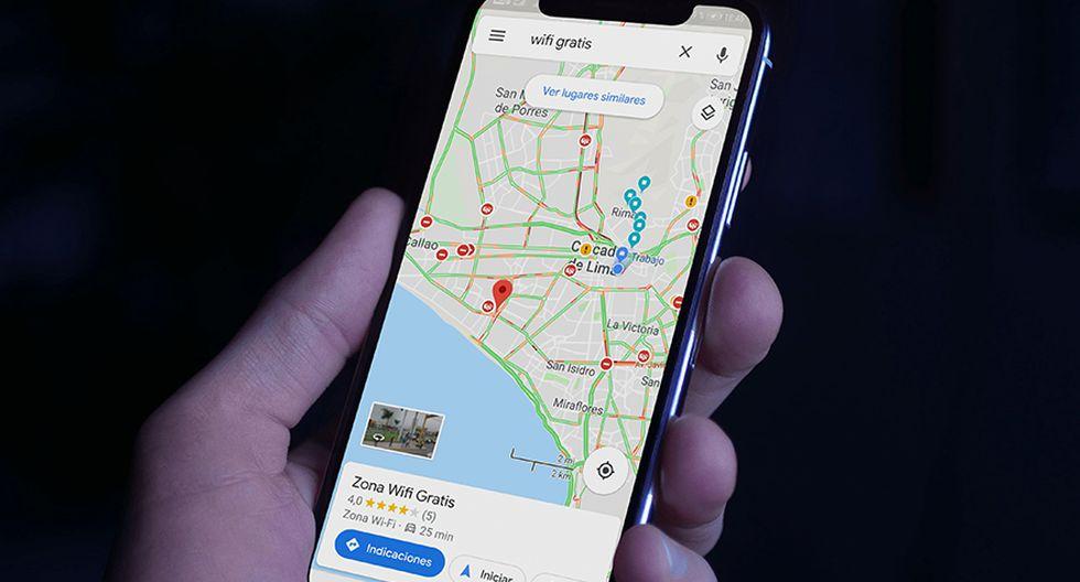 Este es el mapa que debes guardar en tu celular. Conoce los puntos donde hay wifi gratis, gracias a Google Maps. (Foto: Google)