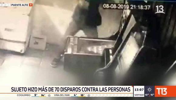 Un tiroteo en Santiago de Chile dejó cinco personas muertas, en un tragamonedas. (Foto: Captura Twitter)