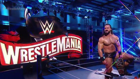 Drew McIntyre venció a Brock Lesnar y se convirtió en nuevo campeón mundial en WrestleMania 36, evento inédito ya que por primera vez en su historia se realizó sin la presencia de público. La ausencia de los fans se debió a la pandemia del coronavirus en Estados Unidos. (Foto: WWE)