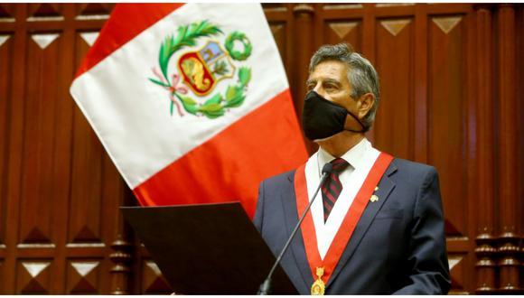 Francisco Sagasti brindó su primer mensaje tras jurar al cargo (Foto: Palacio de Gobierno)