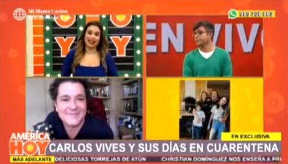 Ethel Pozo y su desbordada emoción en enlace en vivo con Carlos Vives  (Foto: captura )