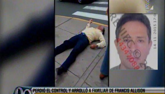 Miraflores: policía que arrolló y mató a peatón no estaba ebrio
