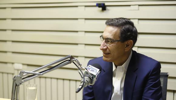 Martín Vizcarra se refirió a Acción Popular y APP durante una entrevista con radio Santa Rosa el 19 de octubre. (Foto: Presidencia)