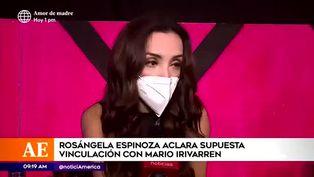 Rosángela Espinoza aclara rumores sobre posible vínculo amoroso con Mario Irivarren