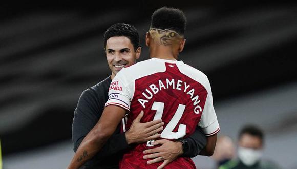 Pierre-Emerick Aubameyang firmó un nuevo contrato de tres temporadas con Arsenal. (Foto: Reuters)
