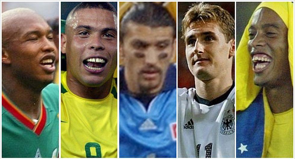 Las figuras del Mundial 2002, con Rüstü Reçber. (Foto: AFP)