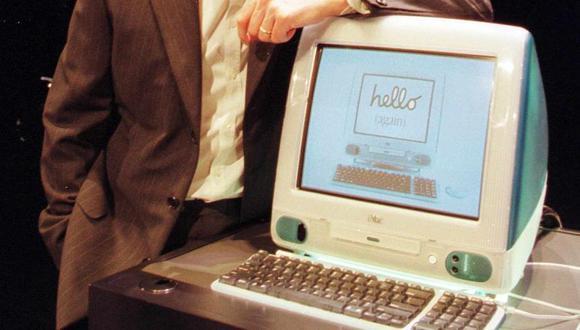 La iMac integraba el CPU dentro del mismo monitor. (Foto: AFP)