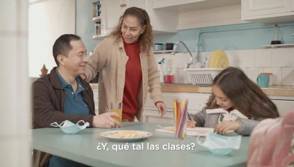 """Uno de los videos que forman parte de la campaña """"El Covid no mata solo. No seamos cómplices"""" de la Presidencia del Consejo de Ministros."""