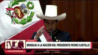 Pedro Castillo anuncia que no gobernará desde Palacio