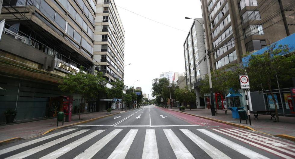 La Avenida Larco, en Miraflores. (Foto: Jesus Saucedo)