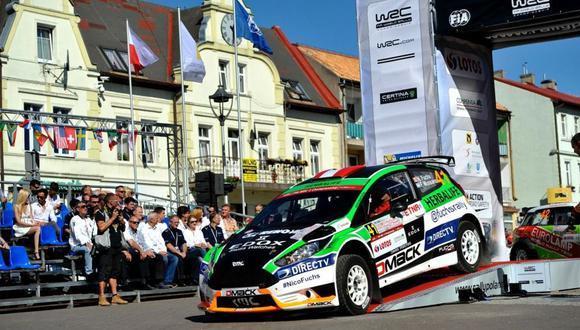 Nicolás Fuchs empezó su participación en el Rally Polonia