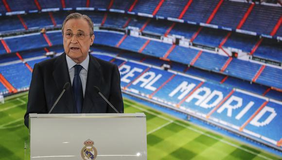 Florentino Pérez insiste en que la Superliga sigue en pie, pero que buscarán remodelar el proyecto. (Foto: AP)