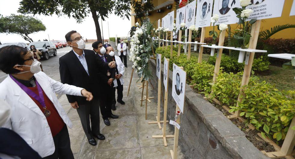 El mandatario Martín Vizcarra recorrió las instalaciones del Colegio Médico del Perú en el distrito de Miraflores. (Foto: Presidencia Perú)